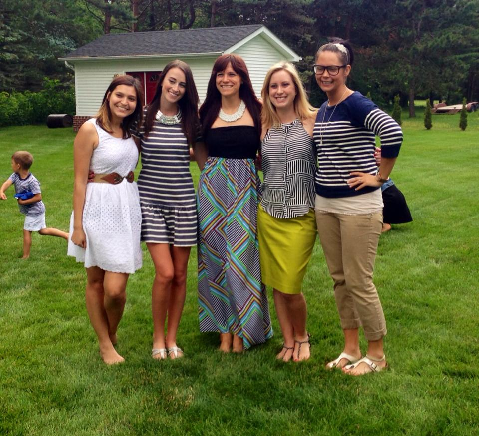 Cute Backyard Party Outfits :  weekend was the engagement party, a simple back yard gettogether